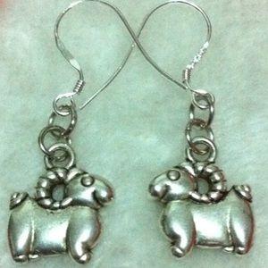Aries Zodiac 925 Sterling Silver Earrings